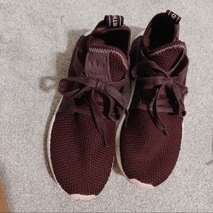 Adidas NMD maroon and pink